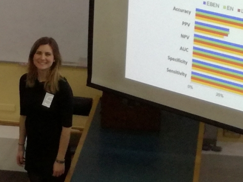 Silvia Colicino presents her research findings at the annual Colt Research Day, held on 24 January 2017 at the Gordon Museum of Pathology, based at King's College London
