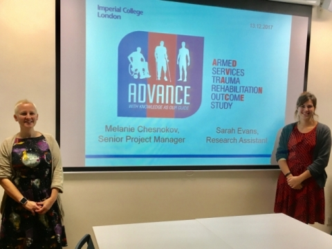 Melanie Chesnokov presents a seminar to our group on the work of the ADVANCE study, 13 December 2017