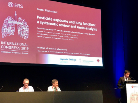 Jate Ratanachina presents at the ERS Congress 2019, held in Madrid, 28 September to 2 October