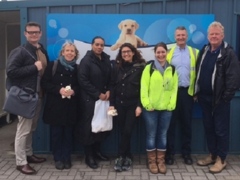 Image of colleagues visiting Kimberly-Clark's Northfleet Mill site in Gravesend, Kent, 23 March 2017